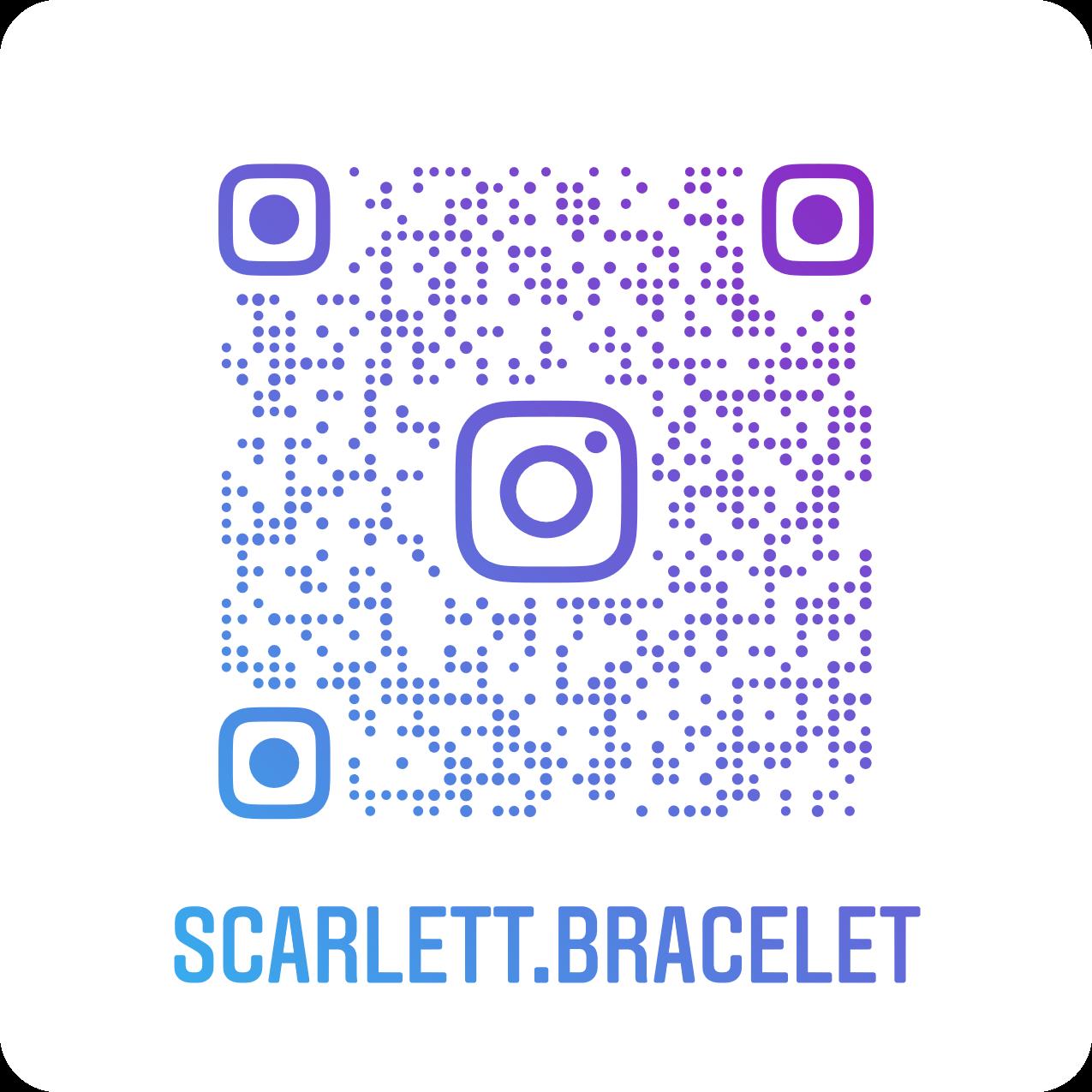 QR Code Scarlett Bracelet sur Instagram